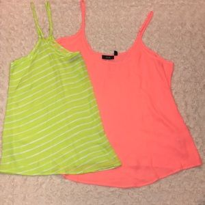 Two chiffon tank tops